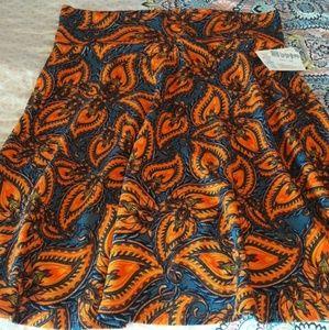 Lularoe Azure Skirt, 3X -Paisley Flames